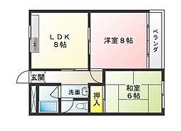 津興第一ビル[2A号室]の間取り