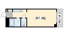 ロンネスト WAVE HOUSE[206号室]の間取り