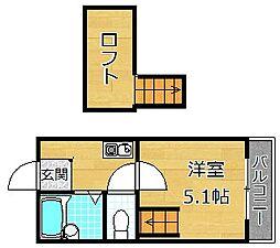 MAYUMIハイツ枚方12番館上島東町[1階]の間取り