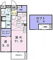 メゾン・ド・ユー[202号室号室]の間取り
