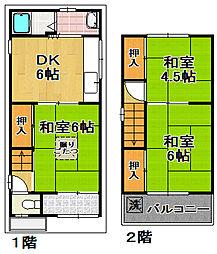 [一戸建] 大阪府大阪市大正区南恩加島6 の賃貸【/】の間取り