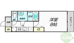 PHOENIX新大阪 10階1Kの間取り