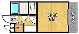 シャルマンフジ西宮[2階]の間取り