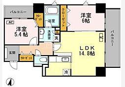 Y's Court東梅田[2階]の間取り