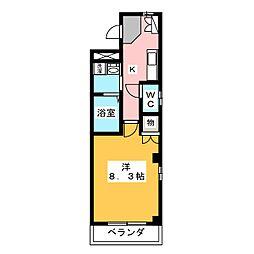 愛知県名古屋市緑区平手南1丁目の賃貸マンションの間取り