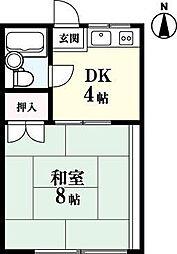 コーポ栄光[3-B号室]の間取り