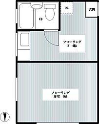 和荘[207号室]の間取り