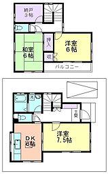 [一戸建] 東京都東村山市恩多町5丁目 の賃貸【/】の間取り