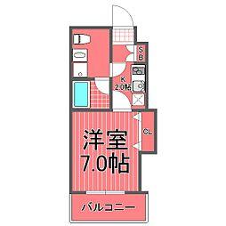 グリフォーネ横浜岡野公園[2階]の間取り