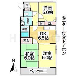 愛知県名古屋市瑞穂区日向町5丁目の賃貸アパートの間取り