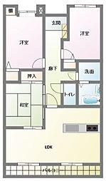 パークハウス神立[1階]の間取り