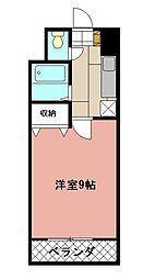 KMマンション八幡駅前[804号室]の間取り