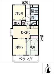 ア・ドリームMORI[2階]の間取り