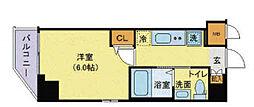 神奈川県横浜市南区中村町2丁目の賃貸マンションの間取り