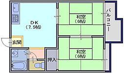 メゾン松塚[202号室]の間取り