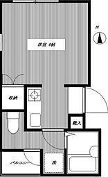 荒川ビル[302号室号室]の間取り