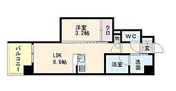 リヴァイン博多駅南[7階]の間取り