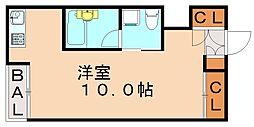 福岡県福岡市城南区西片江2丁目の賃貸アパートの間取り