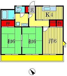 キャビン88[3階]の間取り