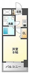SEST新大阪[4階]の間取り