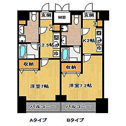 エレンシアK[5階]の間取り