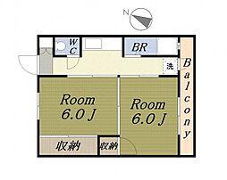フクモトパークビュー[2階]の間取り