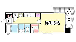 ジークレフ神戸元町[4階]の間取り