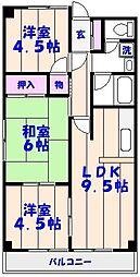 行徳第2マンション[101号室]の間取り