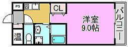 モントハイム[1階]の間取り