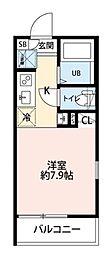 JR京浜東北・根岸線 西川口駅 徒歩9分の賃貸アパート 1階ワンルームの間取り