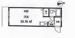 プチコーポ第3[105号室]の間取り
