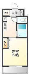 ユニテソリステ津門川[2階]の間取り