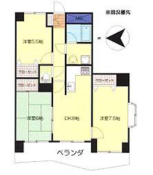 エポック新横浜[407号室]の間取り