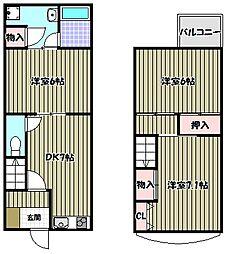 [一戸建] 大阪府堺市堺区向陵中町6丁 の賃貸【/】の間取り