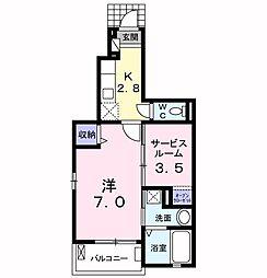 モデッサ80[1階]の間取り