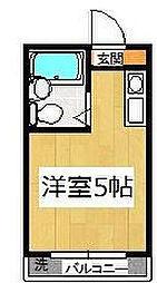 千葉県市川市国府台5丁目の賃貸マンションの間取り