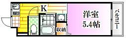 広島県広島市南区西霞町の賃貸マンションの間取り