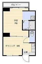 岡山県備前市大内の賃貸アパートの間取り