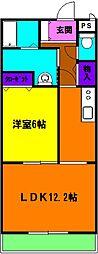 静岡県浜松市東区有玉台1丁目の賃貸マンションの間取り