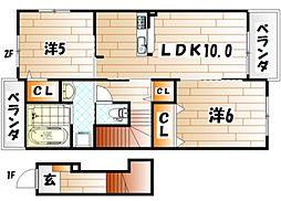 クレールⅢ[2階]の間取り
