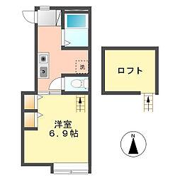 ションテ・ファオン・エスパス[2階]の間取り