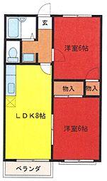 埼玉県さいたま市桜区道場1丁目の賃貸アパートの間取り