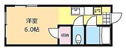 テーラーハイツ[1階]の間取り