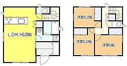 [一戸建] 東京都東大和市狭山5丁目 の賃貸【東京都/東大和市】の間取り