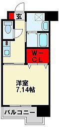 (仮称)折尾4丁目賃貸マンション 4階1Kの間取り
