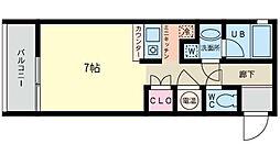 リヴィールマンションIII[4階]の間取り