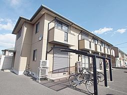 埼玉県川越市的場北2丁目の賃貸アパートの外観