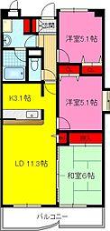 ミカド21[4階]の間取り