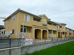 静岡県磐田市上岡田の賃貸アパートの外観