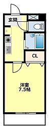 愛知県豊田市久岡町4丁目の賃貸アパートの間取り